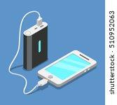 flat isometric smartphone usb... | Shutterstock .eps vector #510952063