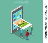 flat isometric micro people... | Shutterstock .eps vector #510952207