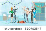 businesspeople celebrate merry... | Shutterstock .eps vector #510963547