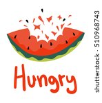 hungry message | Shutterstock .eps vector #510968743