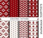 christmas patterns. set of...   Shutterstock .eps vector #510975373
