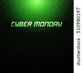 cyber monday vector background. ... | Shutterstock .eps vector #510980197