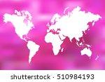 colorful world map illustration ... | Shutterstock .eps vector #510984193