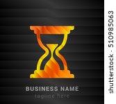 sand clock orange  yellow and... | Shutterstock .eps vector #510985063