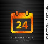 24th calendar orange  yellow...
