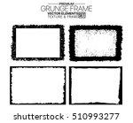 grunge frame texture set  ... | Shutterstock .eps vector #510993277