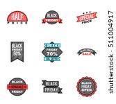 price down icons set. cartoon... | Shutterstock .eps vector #511004917