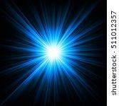 blue light shining from... | Shutterstock .eps vector #511012357