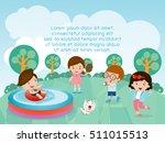 kids at playground children in...   Shutterstock .eps vector #511015513
