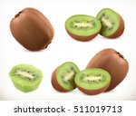 kiwi fruit. whole and pieces.... | Shutterstock .eps vector #511019713