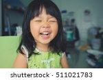 little girl child showing front ... | Shutterstock . vector #511021783