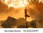 asian young woman doing yoga in ...   Shutterstock . vector #511022497