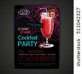 disco cocktail party poster | Shutterstock .eps vector #511042327