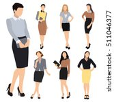 collection of seven woman... | Shutterstock .eps vector #511046377