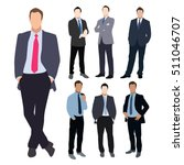 collection of seven man... | Shutterstock .eps vector #511046707