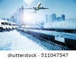 container trains  commercial...   Shutterstock . vector #511047547