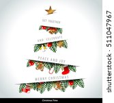 vector christmas motif with... | Shutterstock .eps vector #511047967