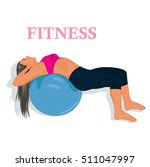 fitness  woman exercising with... | Shutterstock .eps vector #511047997