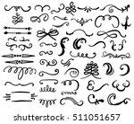 hand drawn set of design... | Shutterstock .eps vector #511051657