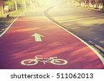Bicycle Path Drawn On The...