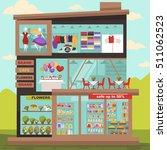 shopping center building for... | Shutterstock .eps vector #511062523
