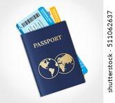 vector passport with tickets....