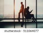 silhouette of businessman...