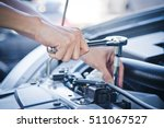 man check and repair the car... | Shutterstock . vector #511067527