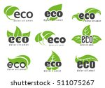 eco and nature logo labels with ... | Shutterstock .eps vector #511075267