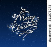 merry christmas background with ... | Shutterstock .eps vector #511075273