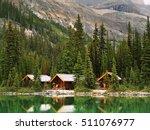 Wooden Cabins At Lake O'hara ...