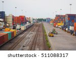 freight train with cargo...   Shutterstock . vector #511088317