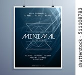 minimal elegant music flyer