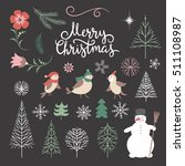 set of christmas graphic... | Shutterstock .eps vector #511108987