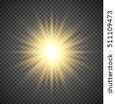 gold glowing light burst... | Shutterstock .eps vector #511109473