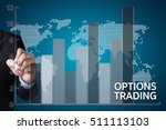 Small photo of OPTIONS TRADING investment in option trade of trader Business concept