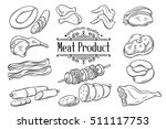 set hand drawn monochrome icon... | Shutterstock .eps vector #511117753