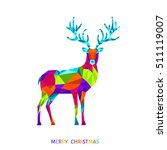 abstract christmas low poly... | Shutterstock .eps vector #511119007