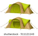 tourist tent isolated on a... | Shutterstock .eps vector #511121143
