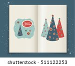 christmas illustrations in... | Shutterstock .eps vector #511122253