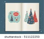 christmas illustrations in... | Shutterstock .eps vector #511122253