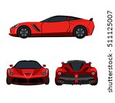super car flat icon | Shutterstock .eps vector #511125007