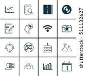 set of 16 universal editable... | Shutterstock .eps vector #511132627