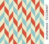 retro geometric seamless... | Shutterstock .eps vector #511136467