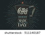 poster coffee pot moka with... | Shutterstock .eps vector #511140187