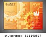 tri fold technology brochure... | Shutterstock .eps vector #511140517