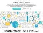 vector elegant thin line flat... | Shutterstock .eps vector #511146067