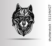 wolf portrait. vector abstract... | Shutterstock .eps vector #511146427