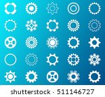 collection of white gear wheel... | Shutterstock .eps vector #511146727
