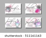 makeup artist business card.... | Shutterstock .eps vector #511161163